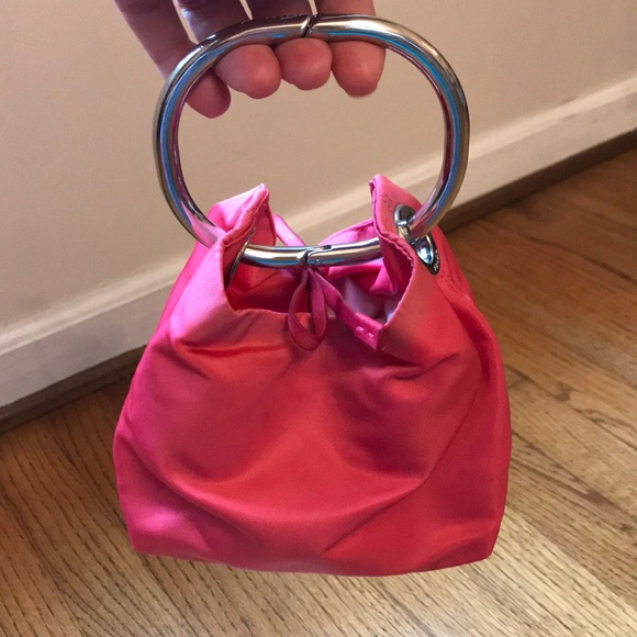 d79911072c4c Prada hot pink nylon wristlet bracelet evening bag.  M_5b5399951070ee1c3b373aa3